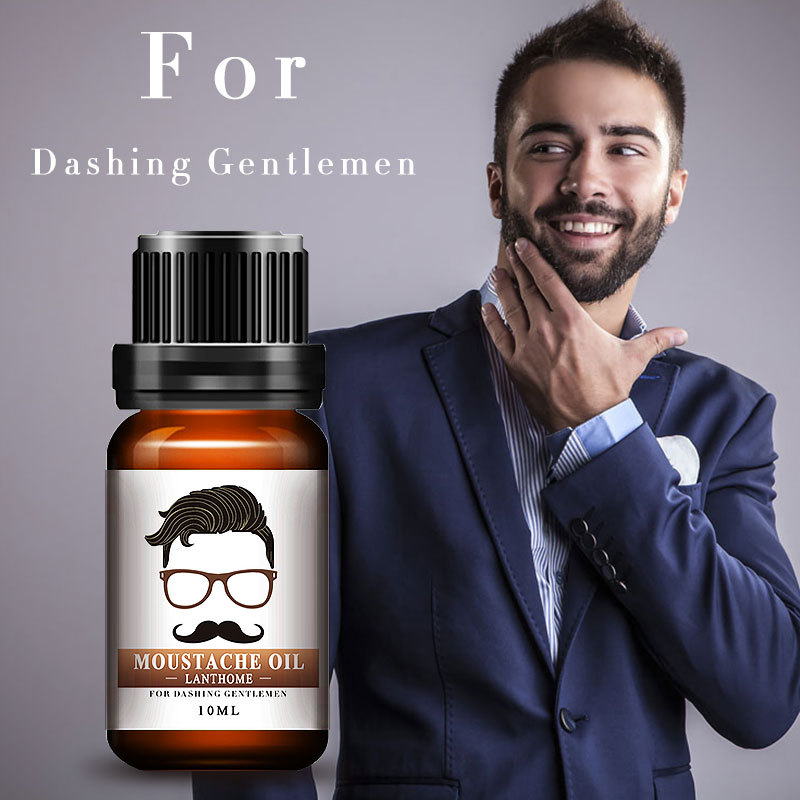 10ml Natural Beard Mustache Nourishment Oil Nursing Moisturizing Conditioner