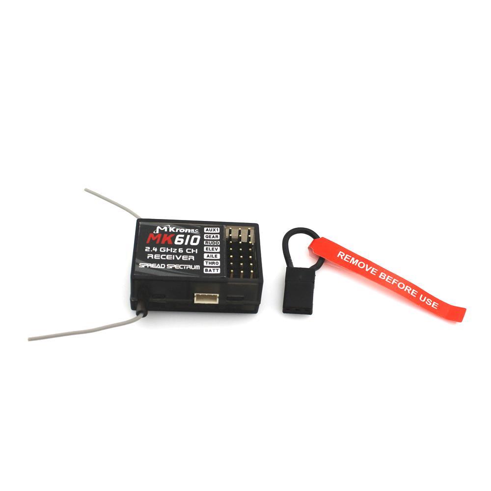 MKRONRC 2.4G 6CH MK610 DSM2 Mini Receiver Compatible SPEKTRUM JR Transmitter