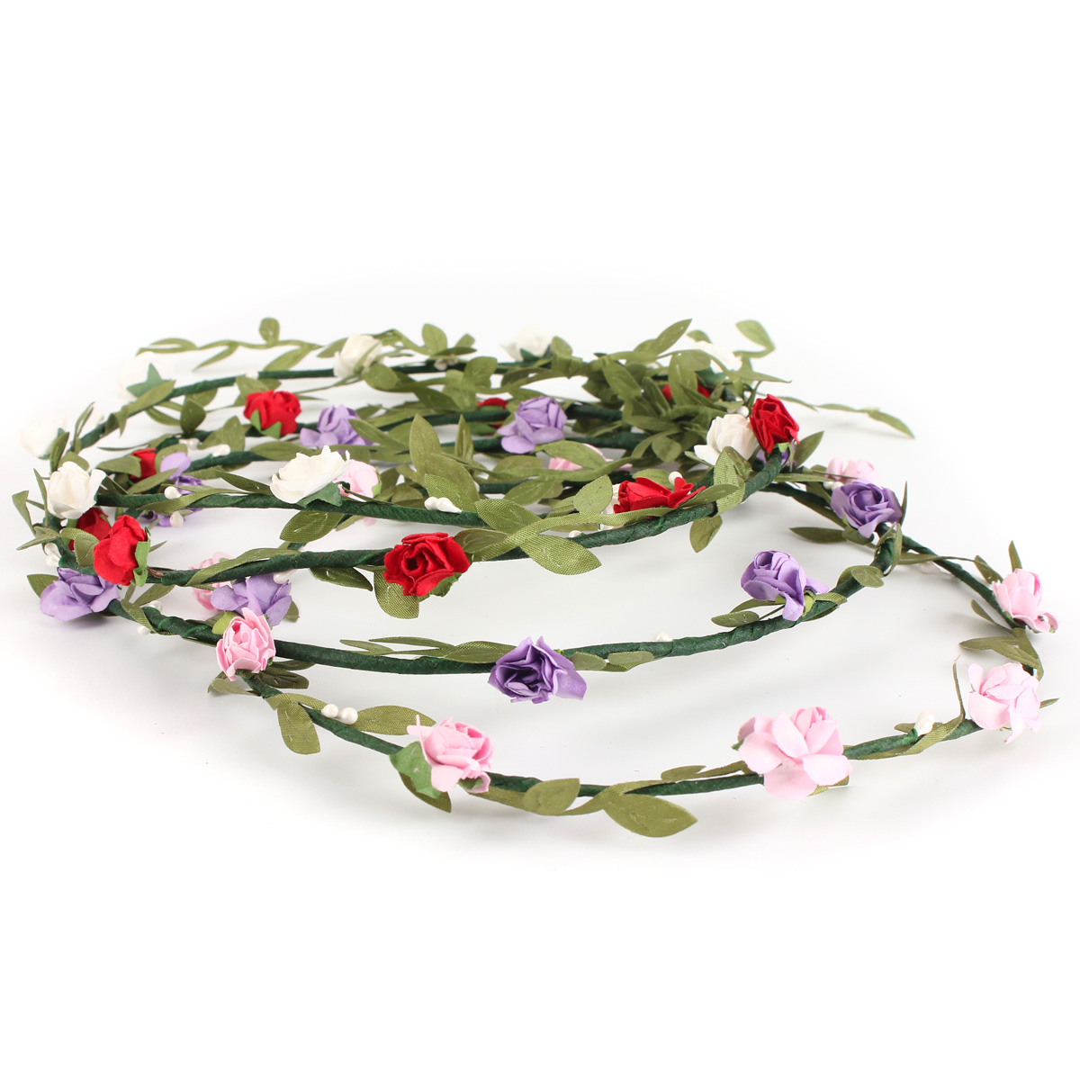Bride Headbrand Flower Boho Women Lady Girl Floral Festival Wedding Garland Hair Head Band