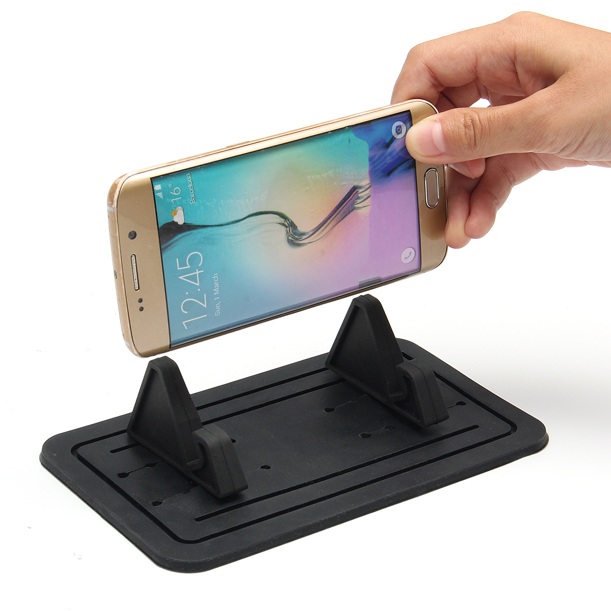 Universal Car Silicon Pad Dash Phone Holder Mount Dashboard Stand for iPhone Samsung Xiaomi Huawei