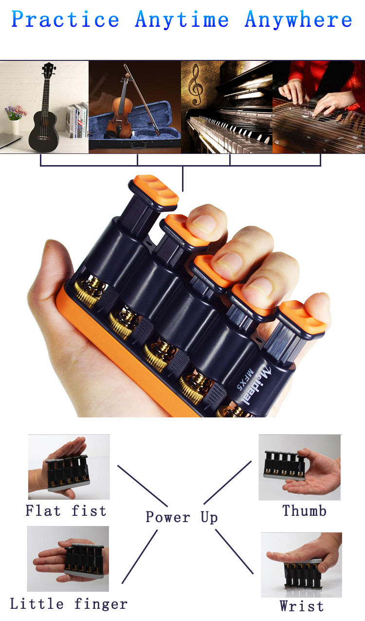 Meideal MFX5 Finger Trainer Copper Gear for Guitar Bass Ukulele Piano Violin Players
