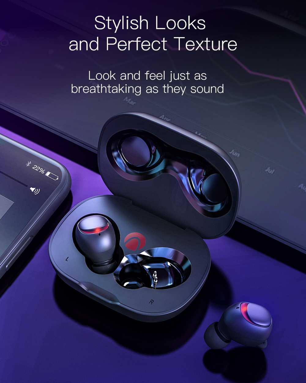 BlitzWolf AIRAUX AA-UM1 Mini True Wireless bluetooth 5.0 Earphone Hi-Fi Stereo Headphone with Charging Case