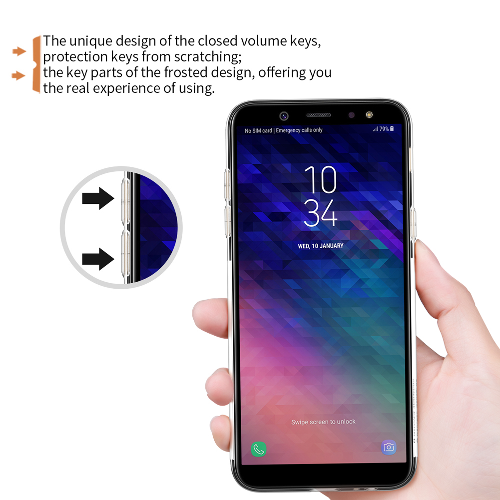 NILLKIN Soft TPU Ultra Thin Protective Case for Samsung Galaxy A6 Plus 2018/A9 Star lite