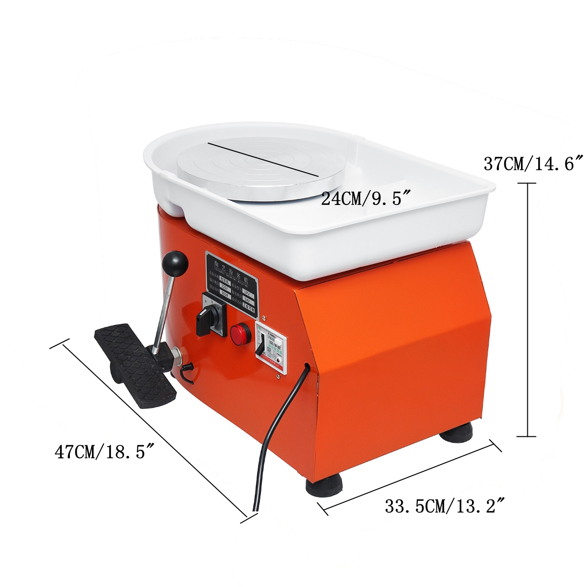 Pottery Forming Machine 250W Electric Pottery Wheel DIY Clay Tool with Tray for Ceramic Machine