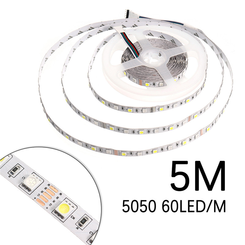 DC12V 5M SMD5050 RGBW Non-Waterproof Smart Wifi Alexa Phone APP Control LED Strip Lights Kit