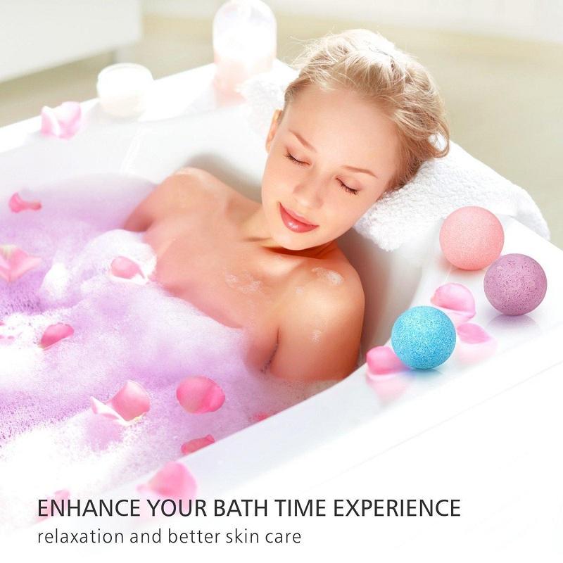 Christmas Natural Bubble Bath Bomb Ball Essential Oil Handmade SPA Bath Fizzy Gift
