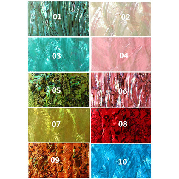 10 Colors 3D Natural Shell Nail Art Stickers Decals Manicure Decoration Sticker