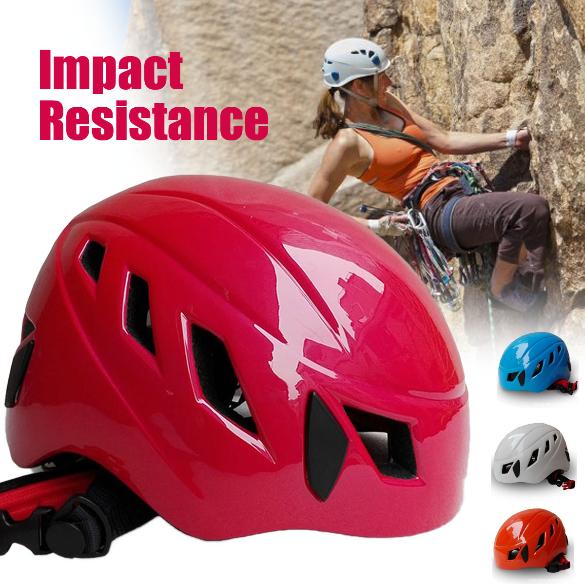 Outdoor Unisex PC EPS Adjustable Safety Rock Climbing Rescue Helmet