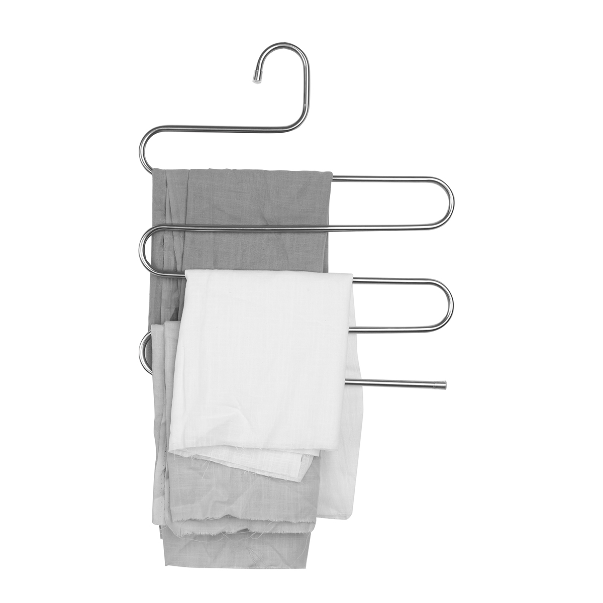 5 Layers Pants Hanger Trousers Towels Hanging Cloth Clothing Rack Space Saver