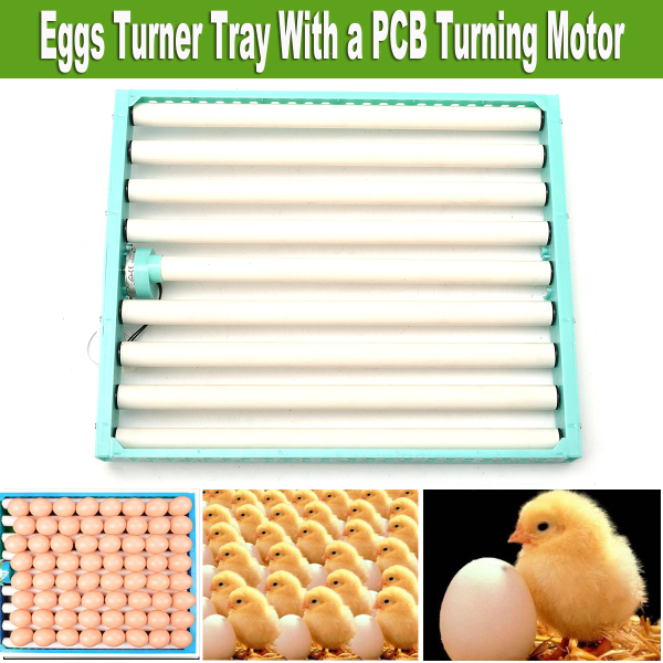 220V Chicken Eggs 360° Turner Automatic Duck Quail Bird Poultry Egg Incubator Tray