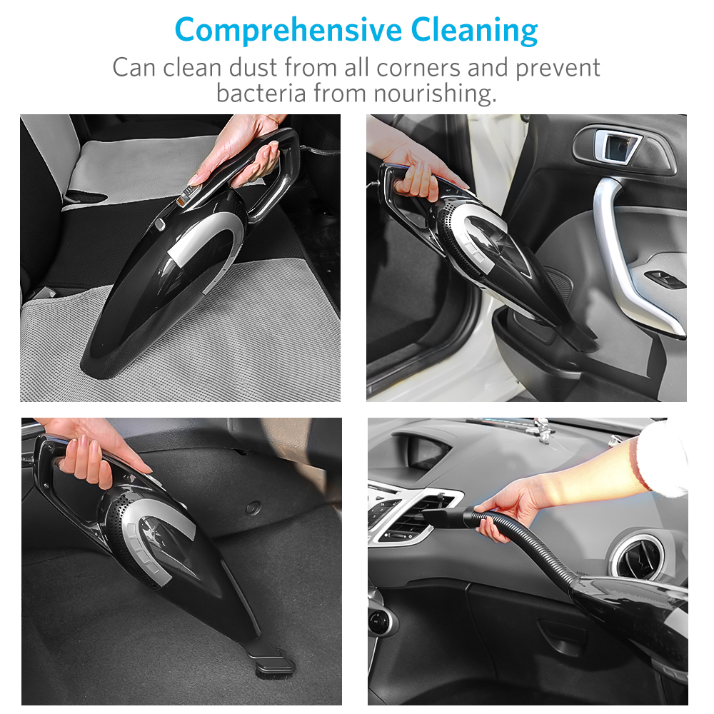 Portable Mini Heavy Dust Design Vacuum Cleaner Dry Wet Dust Clean for Home Car Dust Busters with 5500PA Strong Suction