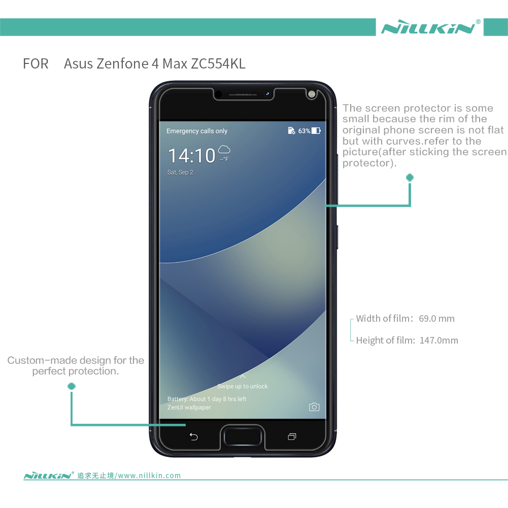 NILLKIN Anti-Fingerprint Anti Glare Matte Soft Screen Protector For ASUS Zenfone 4 Max(ZC554KL)