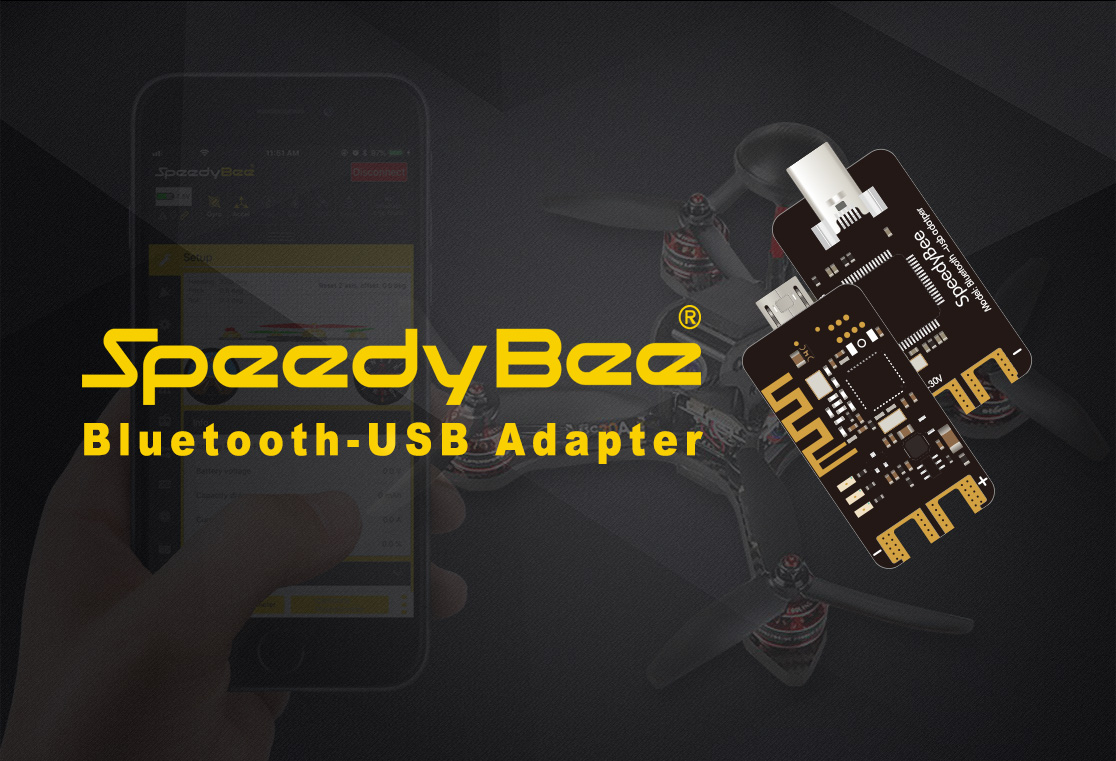 Speedy Bee bluetooth-USB Adapter 2-6S Support STM32 Cp210x USB Connector For RC Flight Controller