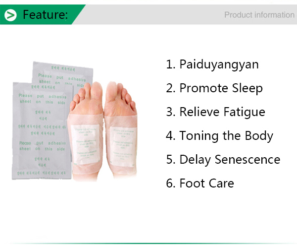 Verseo Detox Foot Natural Cleansing Patches Body Relief Toxins Feet Slimming Cleansing Herbal Pads