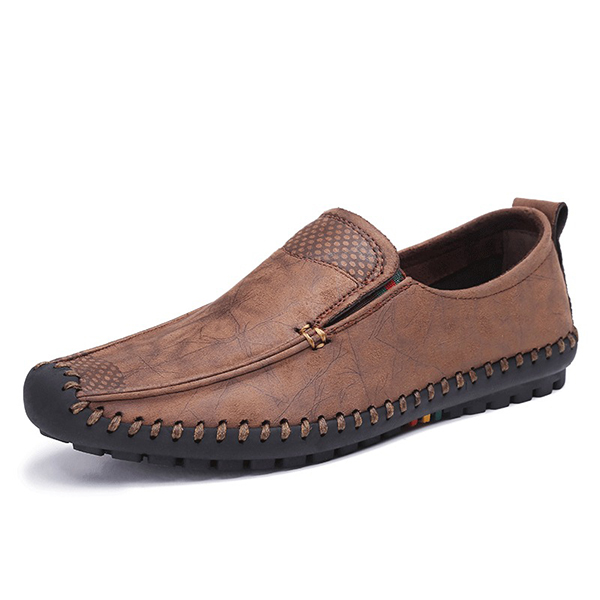 Bnaggood Shoes Men Soft Sole Slip On Oxfords