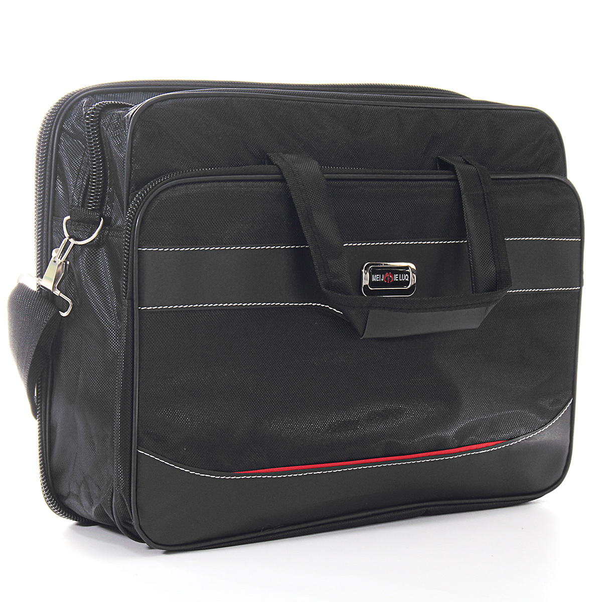 Specifications: Material: Surface: Nylon; Lining: Dacron Colour: Black Size: 310*390*140mm Features: Stylish Laptop Case made of top quality Waterproof materials to high specification, making it strong, Durable, lightweight and ideal for even the heavy ev #handbag