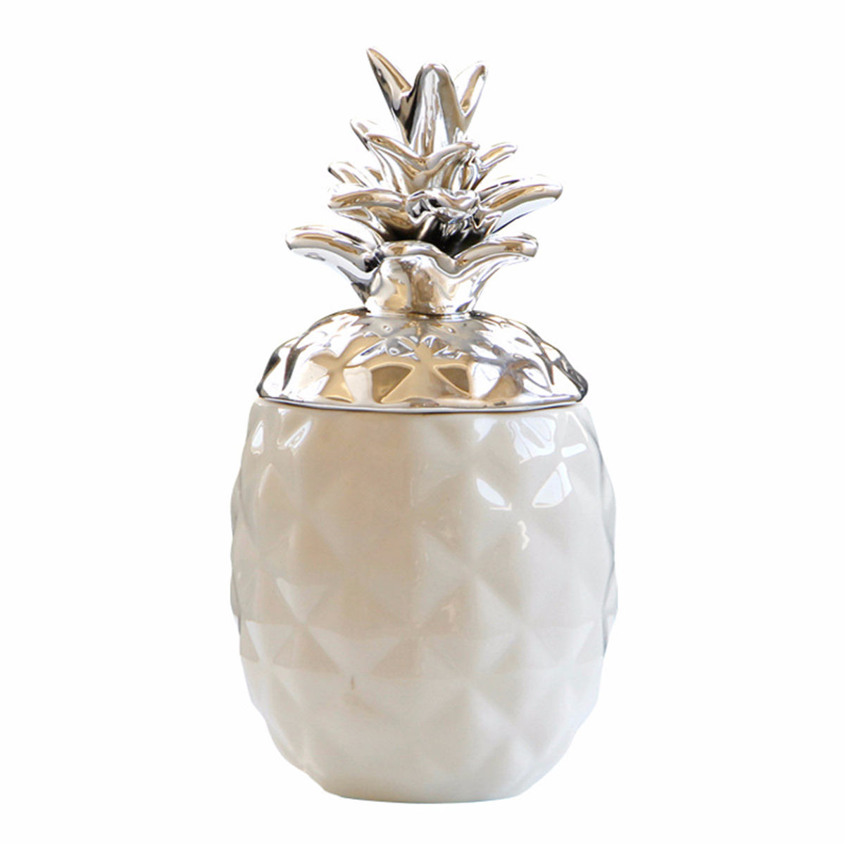 Empty Jar Ceramic Chic Pineapple Tea Coffee Sugar Jars Storage Canisters Home Decor