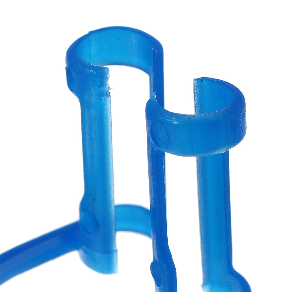 50pcs Disposable Cotton Roll Holder Blue Clip For Teeth Clinic Isolator Dental Tools