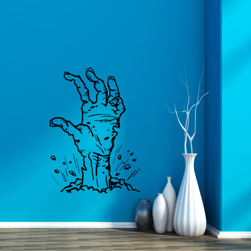Hallowen Ghost Hand Glass Window Decor Wall Sticker Party House Home Decoration Creative Decal DIY Mural Wall Art Sticker