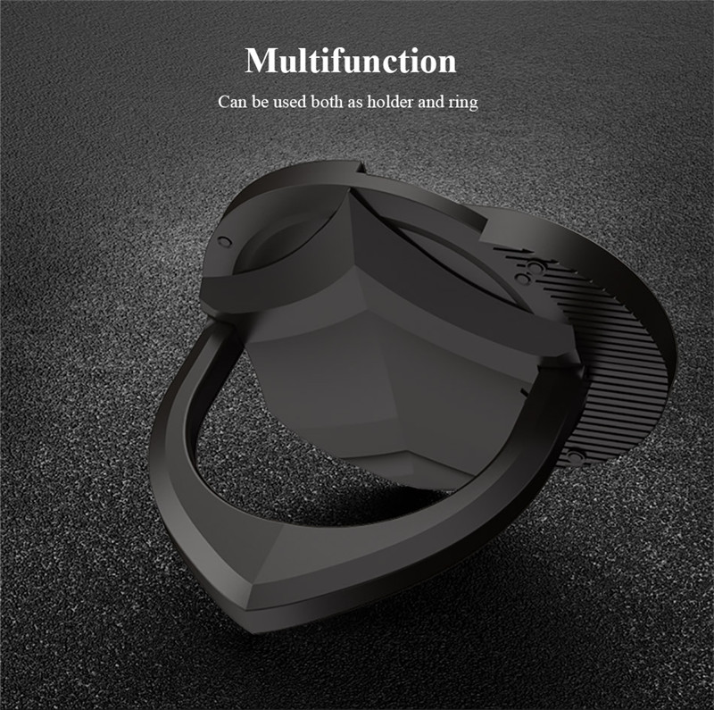 ipaky Metal Electroplated 360 Degree Rotation Finger Ring Holder Desktop Kickstand for iPhone Xiaomi