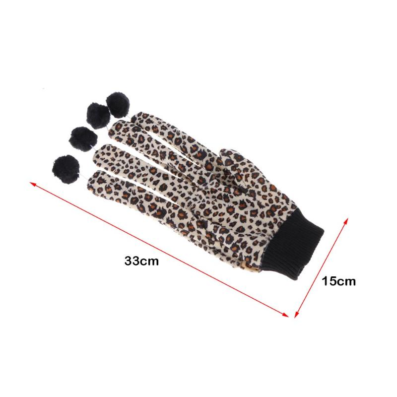 Cute Cat Toys Scratcher Leopard Glove with Lovely Balls Teaser Playing Toy for Cats Kitten Interactive Funny Pet Toys Products