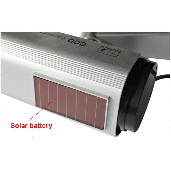 Solar Powered Fake Camera Outoodr Dummy Bullet CCTV Security Surveillance Camera Blinking IR LED