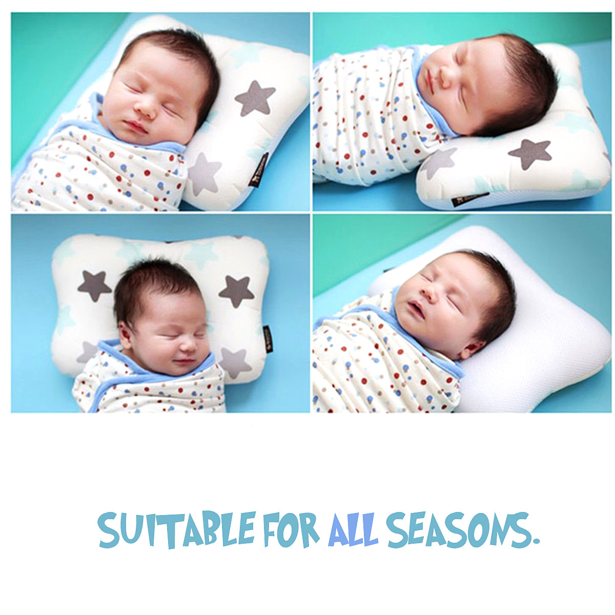 Breathable Cotton Newborn Baby Head Shaping Pillow