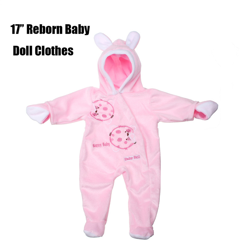 17'' handmade Reborn Newborn Baby Doll Clothes Baby Girl Doll Supplies
