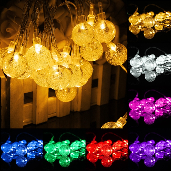3M 20LED Battery Bubble Ball Fairy String Lights Garden Party Christmas Wedding Decor