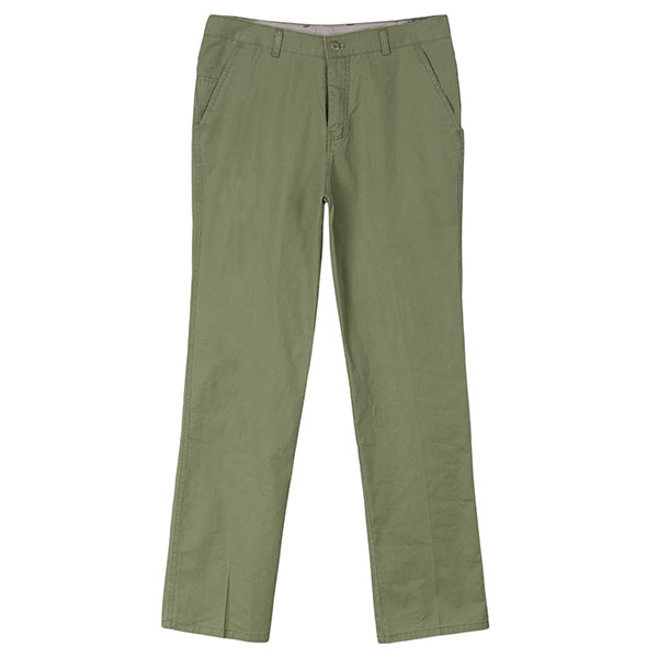Plus Size Mens Casual Solid Color Straight Leg Cotton Slim Fit Pants