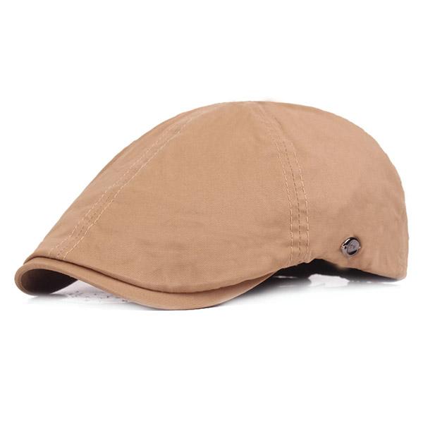 Mens Cotton Rivets Beret Cap Adjustable Outdoor Sports Gentleman Golf Cap