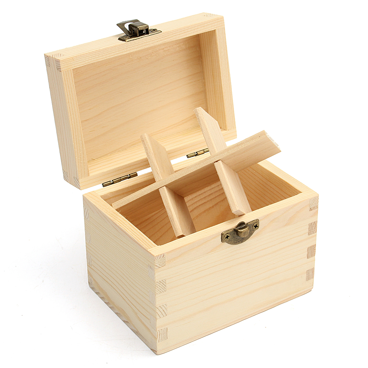 6 Grids Wooden Box Bottles Container Storage for Essential Oil 5-10ml