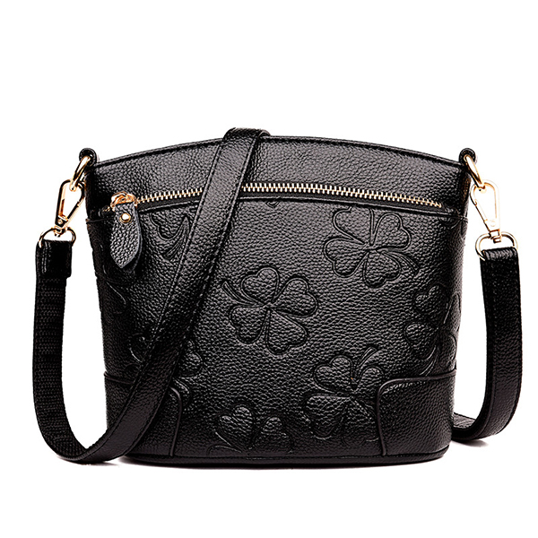 Women PU Leather Solid Shell Crossbody Bags