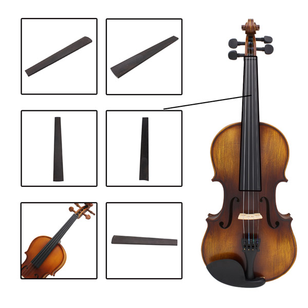Violin Ebony Finger Board Black Violin Replacement Parts