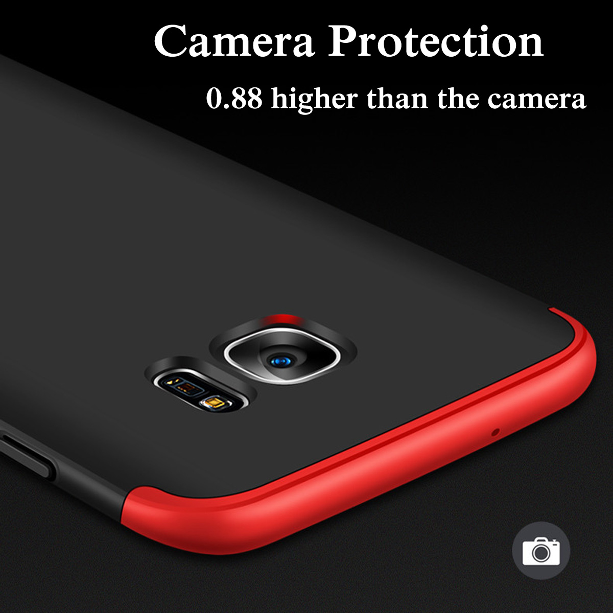 Bakeey 3 In 1 Double Dip 360 Protective Case Hard Pc Cover For Baby Skin Ultra Thin Samsung S7 Edge Black Shipping Methods