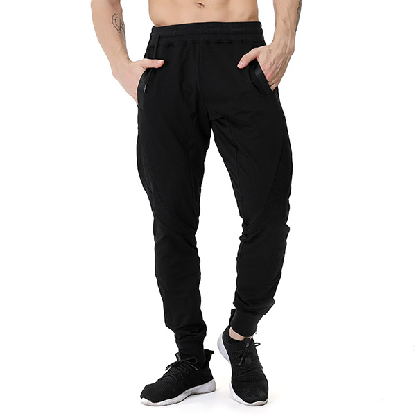 Men's Casual Stitching Color Slim Fit Joggers Sport Pants