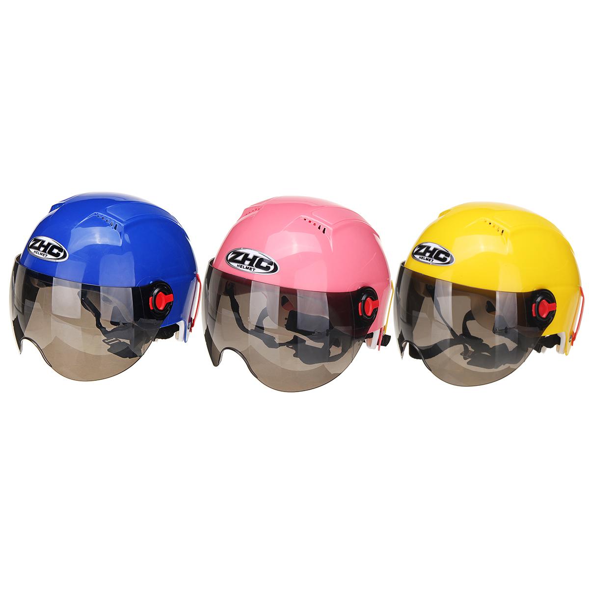 Motorcycle Half Helmet Open Face Cycling Outdoor Sports Flip Up Sun Visor Helmets