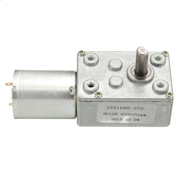DC 12V 5RPM High Torque Turbine Worm Gear Box Reduction Motor