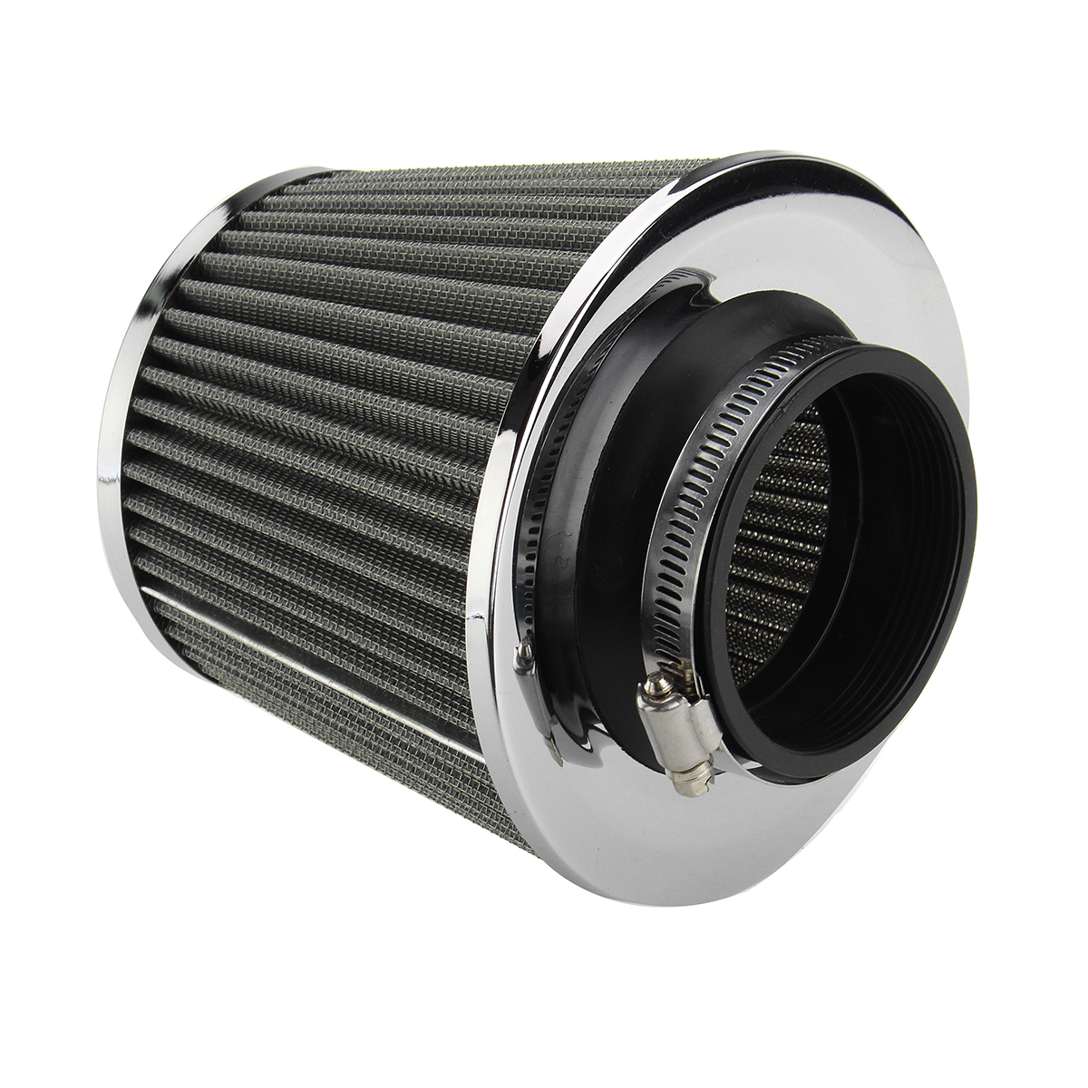 3 Inch Universal Car Cold Air Intake Filter Aluminum Induction Kit Pipe Hose System Silver