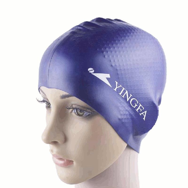 Unisex Women Mens Universal Silicone Swim Cap Waterproof Hair Ear Protection Swimming Cap