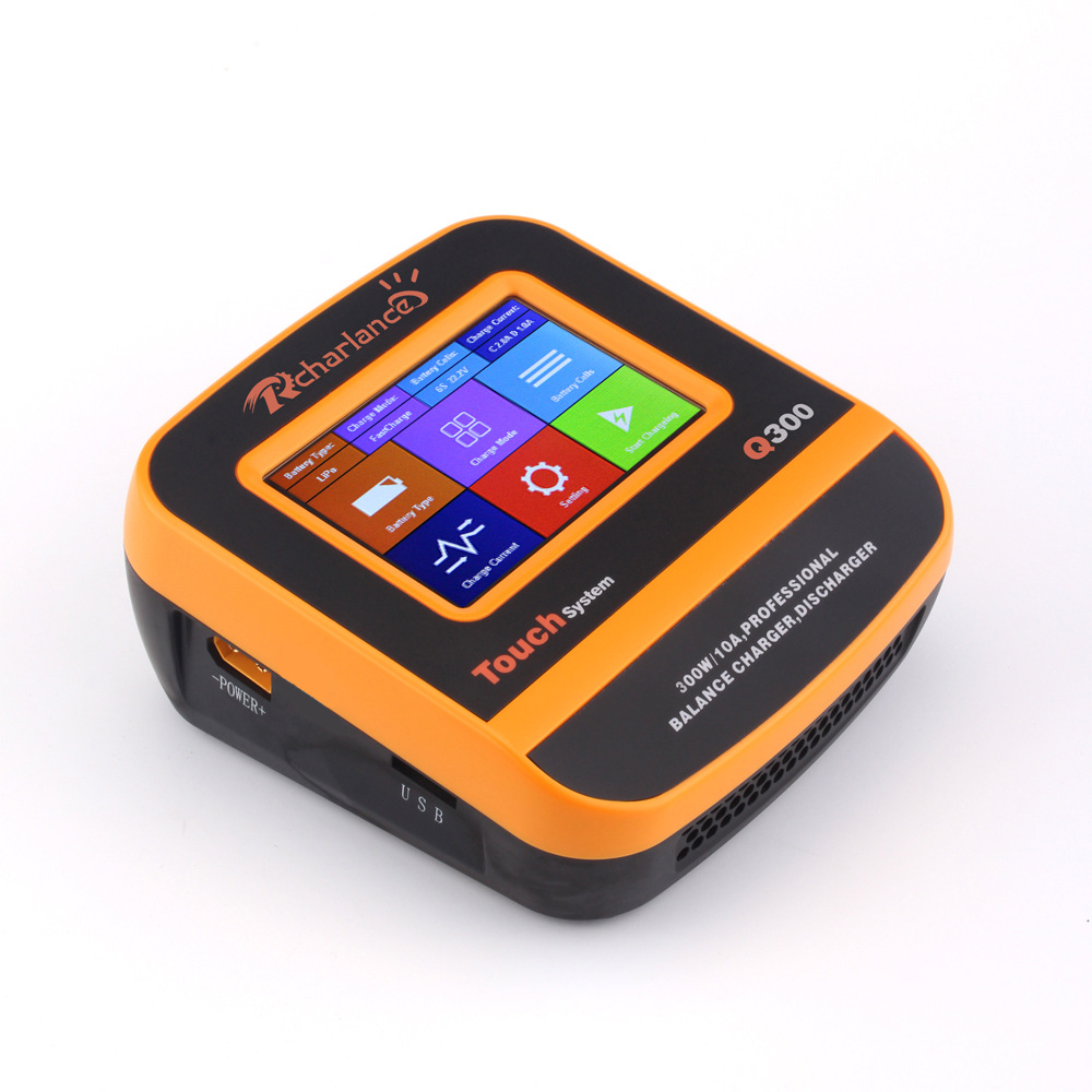 Rcharlance Q300 300W 10A DC Colorful Touch Screen 2-6S Lipo Battery Balance Charger