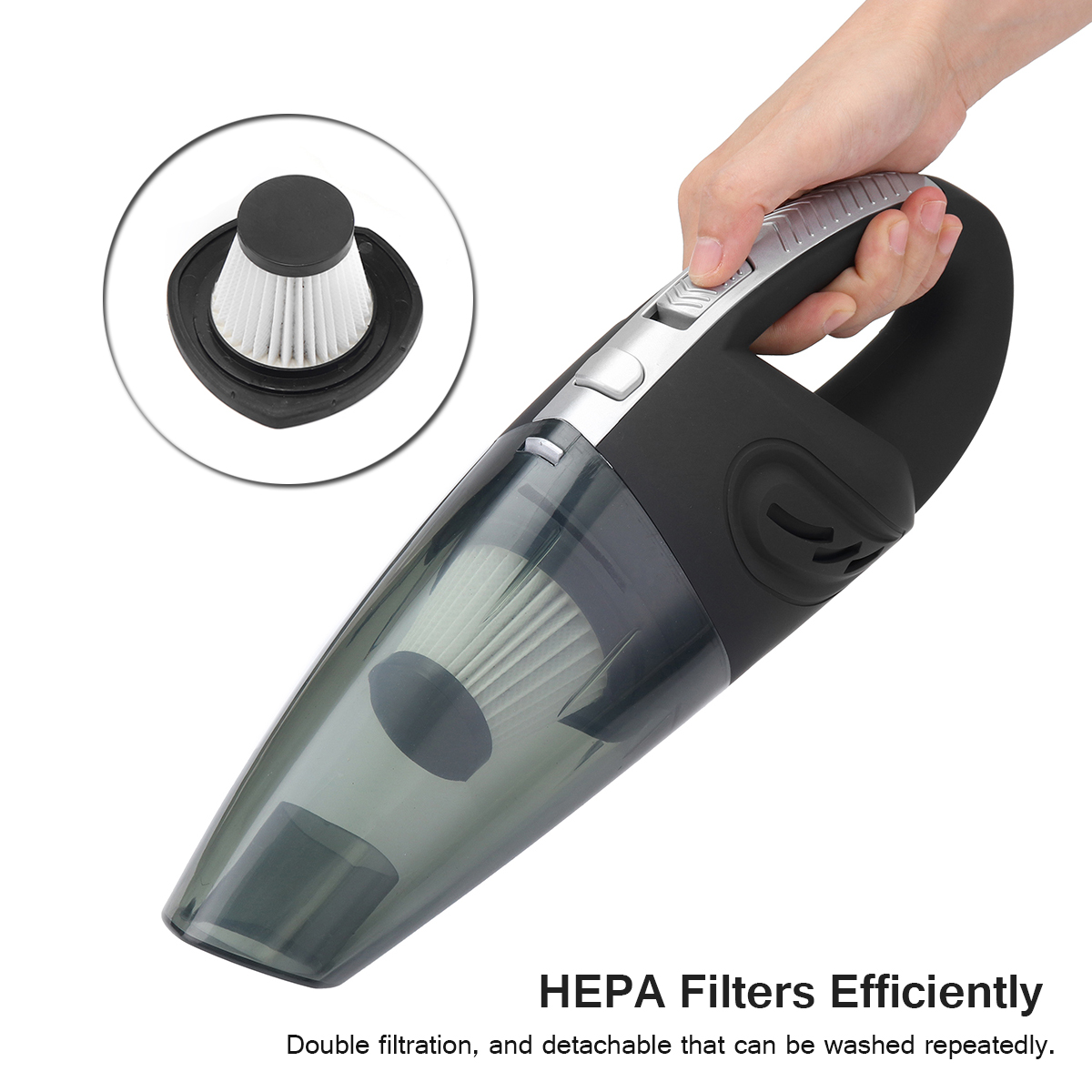 120W High Power Rechargeable Cordless Wet Dry Portable Car Home Vacuum Cleaner