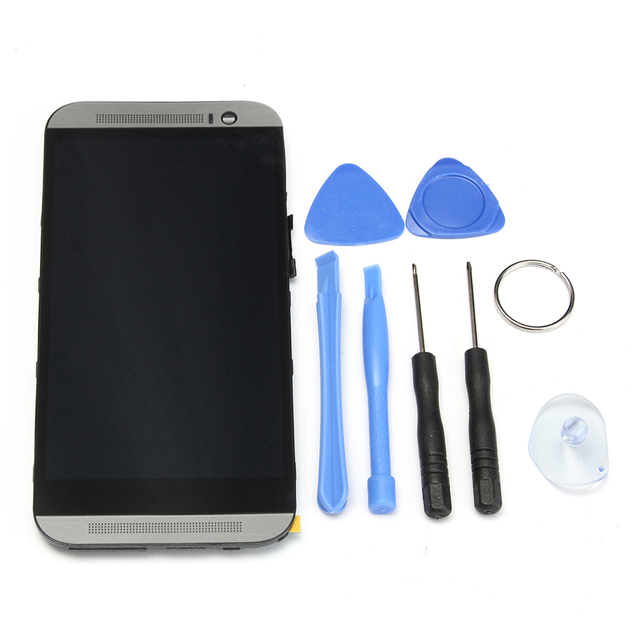 LCD Display Touch Screen Digitizer Assembly Replacement Phone Screen Frame for HTC One M8