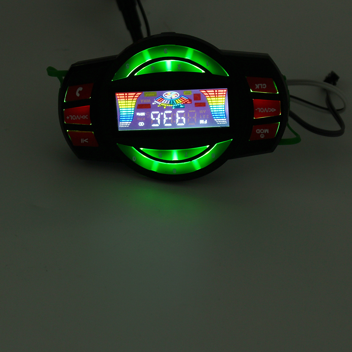 Waterproof LCD Motorcycle MP3 Player Alarm FM Amplifier Speaker with bluetooth Function