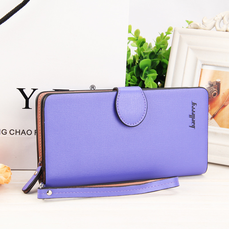 New Fashion Baellerry Women High Quality PU Leather Long Wallet Zipper Around Handbag Card Holder