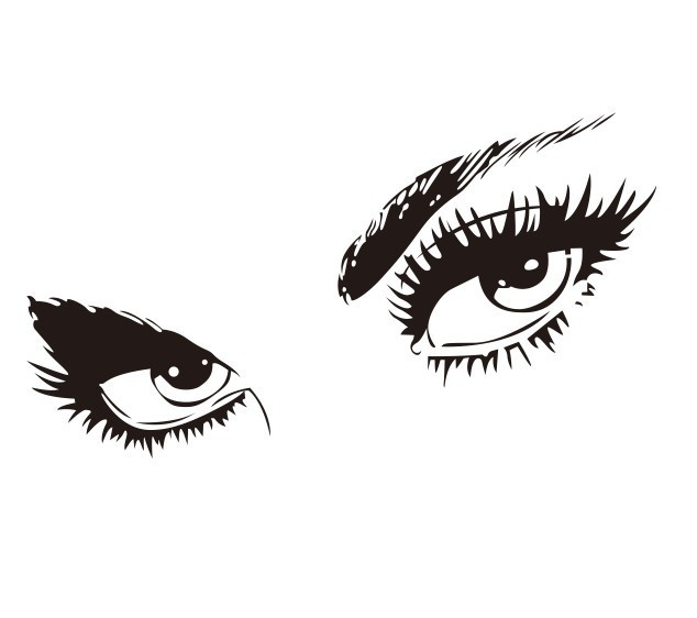 50 x 95cm Big Black Sexy Eyes Wall Stickers Beautiful Eyes Wall Decal Home Wall Decor