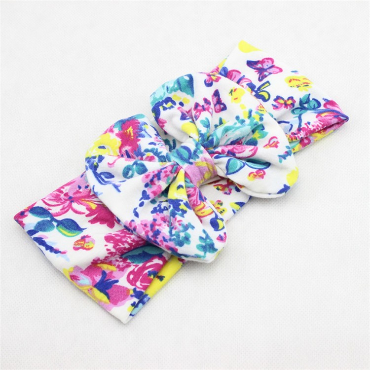 Kids Baby Girl Infant Flower Hair Band Turban Floral Photography Bowknot Headbrand Wear Accessories