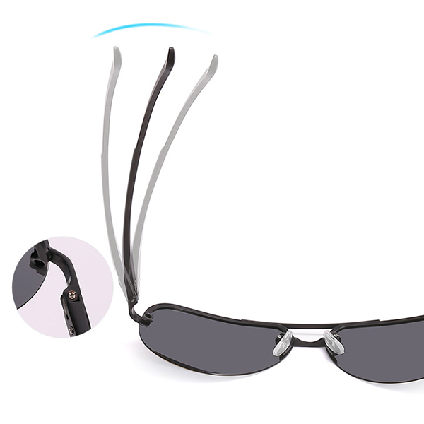 Polarized Metal Mirror UV 400 Lens Sunglasses