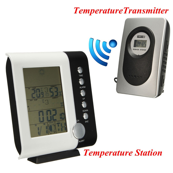 Outdoor/Indoor Digital Hygrometer Humidity Thermometer Weather Station