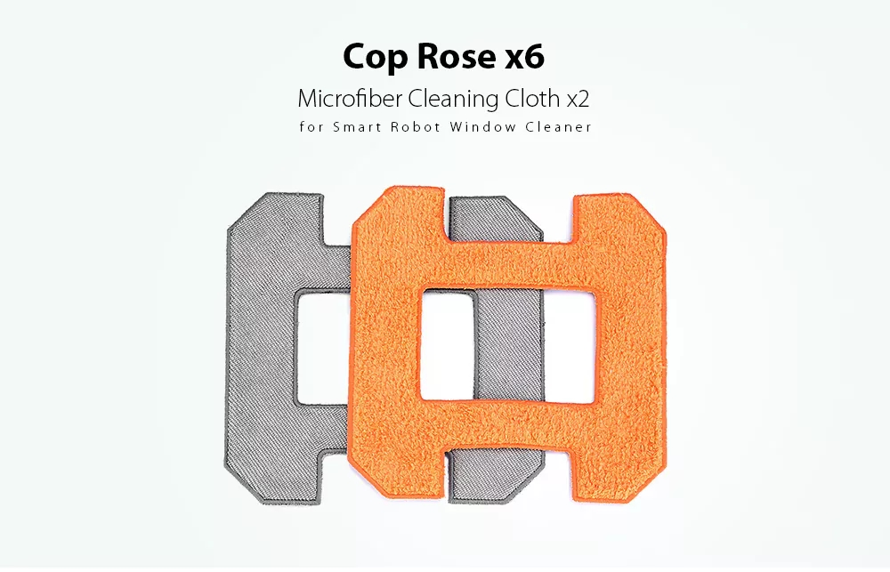 2pcs Square Microfiber Polishing Cloth For Cop Rose x6 Window Cleaning Robot Machine